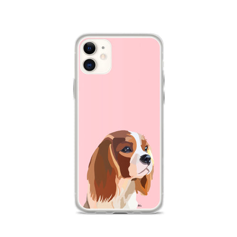 Cavalier King Charles Spaniel iPhone Case-Standard - Miss Manda Pet Portraits