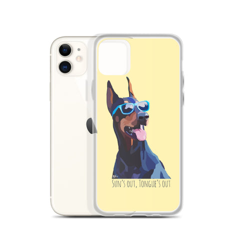 Sun's Out, Tongue's Out iPhone Case