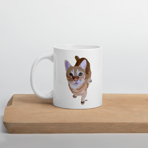 Cat Stevens Mug – White - Miss Manda Pet Portraits