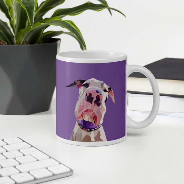 Great Dane Mug – Purple - Miss Manda Pet Portraits