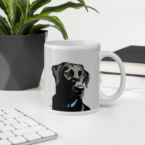 Black Lab Mug – Grey - Miss Manda Pet Portraits