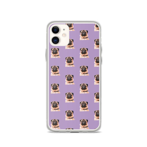 Pug iPhone Case – Pattern - Miss Manda Pet Portraits