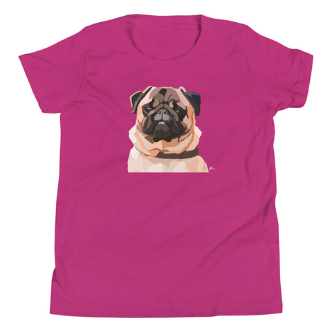 Pug Youth T-Shirt - Miss Manda Pet Portraits