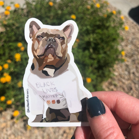 Pups for Black Lives Matter (French Bulldog): 1 Sticker
