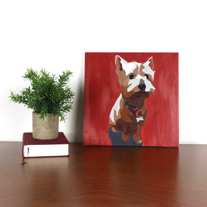 West Highland Terrier 12x12 Oil Painting - Miss Manda Pet Portraits