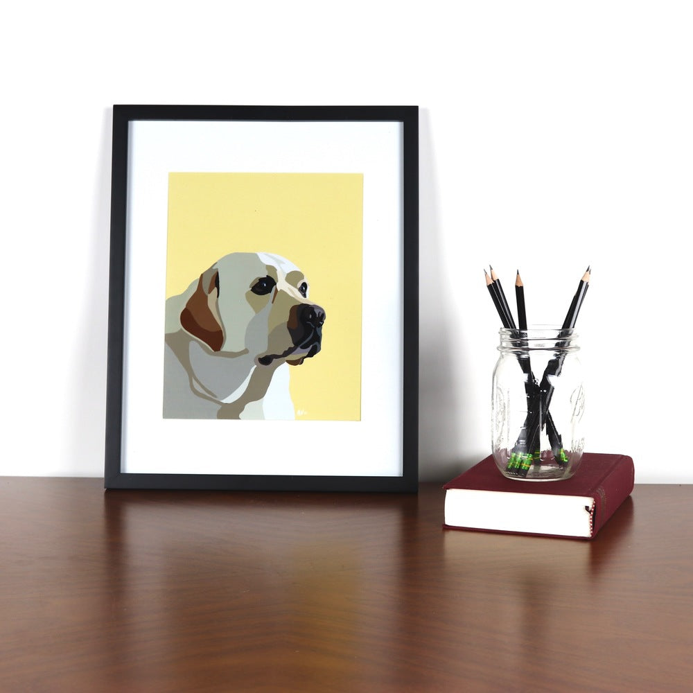 Yellow Lab Glossy Print - Miss Manda Pet Portraits