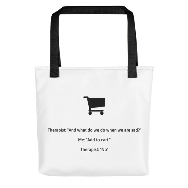 Therapist Shopping Add to Cart Tote Bag
