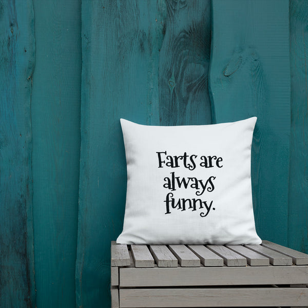 Farts are Funny Throw Pillow