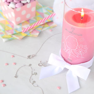 candy floss scented candle with jewel jewelcandle gallery 1
