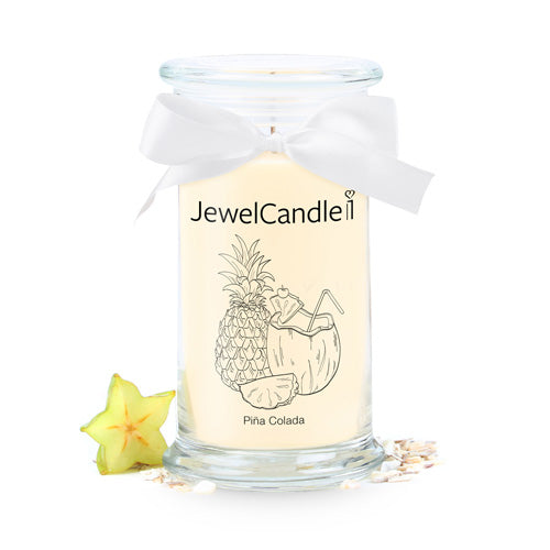pina colada candela profumata con gioiello jewelcandle product picture cut big