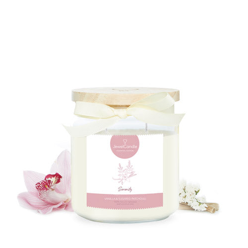 essential serenity scented candle with jewel jewelcandle product picture cut int