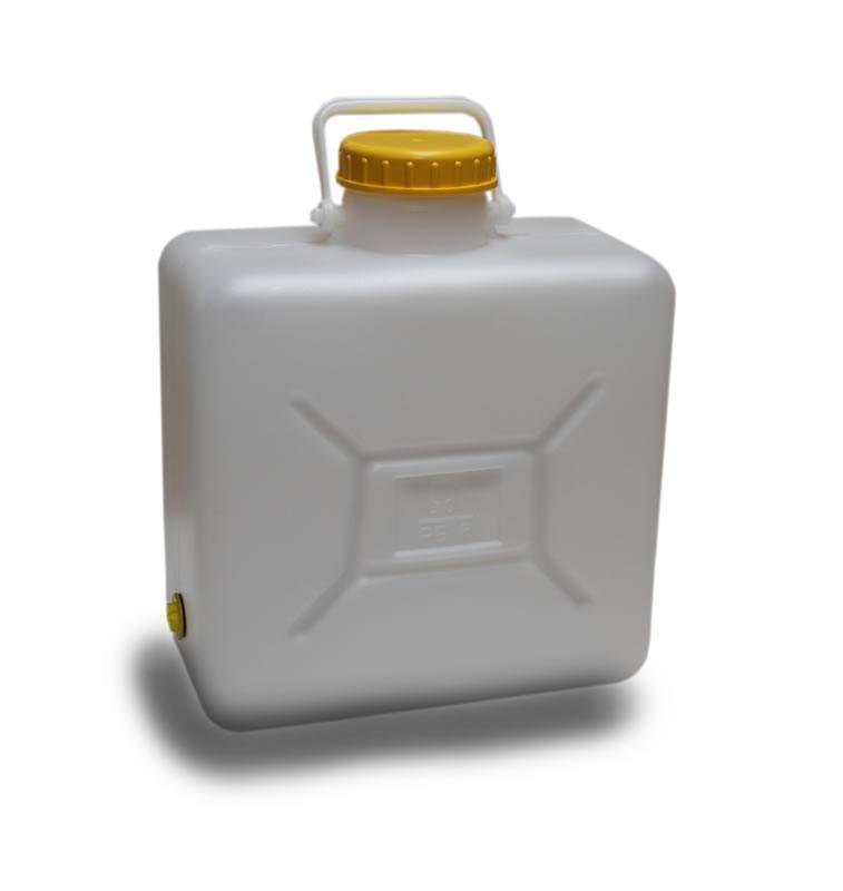 16 Litre Water Container - Hinged Handle (Screw Top)