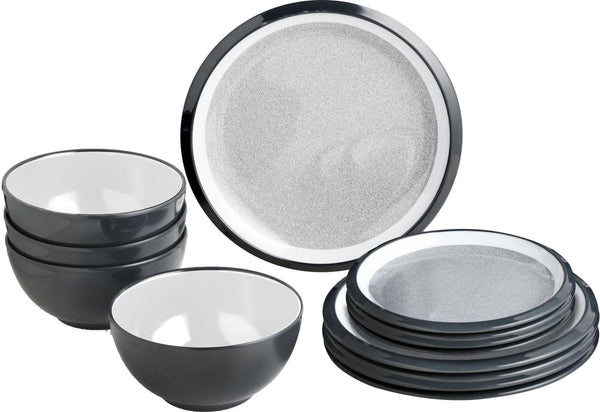Midday 12 Piece Tableware Set - Granyte