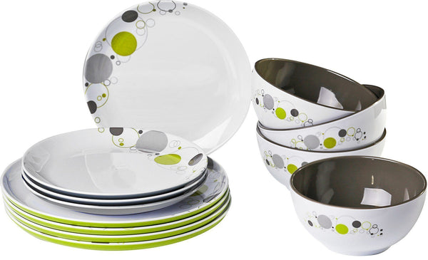 Midday 12 Piece Tableware Set - Space