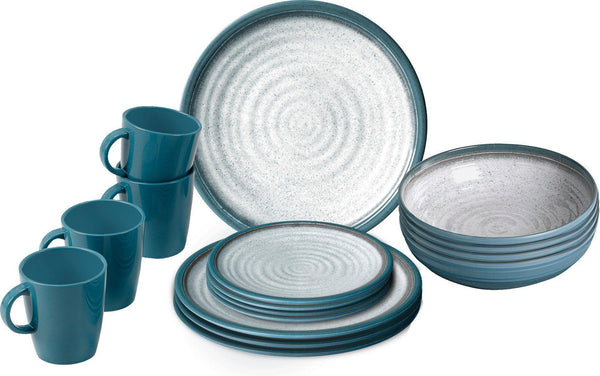 Lunch Box 16 Piece Tableware Set - Tuscany