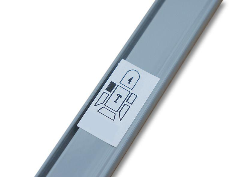 Trafic / Vivaro Curtain Kit - Left Centre Sliding Door (Grey)
