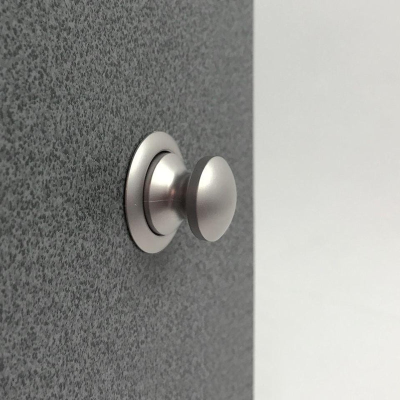 Door Latch Button - Nickel (For 15mm Plywood)