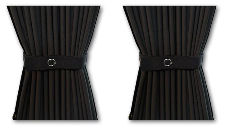 VW T5/T6 Curtain Kit - Left Back SWB (Black)