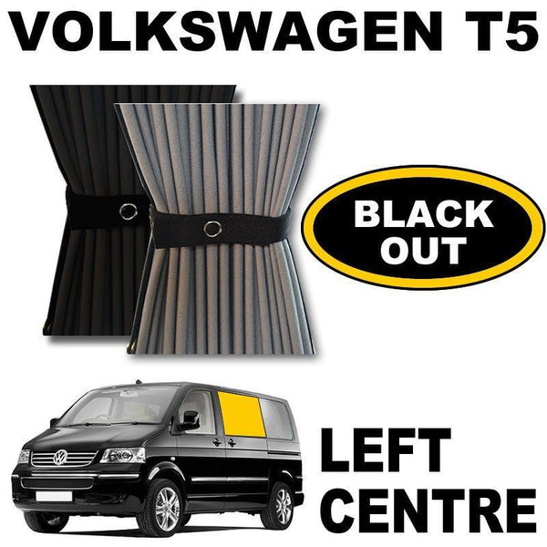 VW T5/T6 Curtain Kit - Left Centre Sliding Door (Blackout)