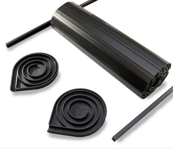 Tambourline Tambour Door Kits - Choice of Size & Colour Tambourline Solid Black 343mm wide x 650mm drop