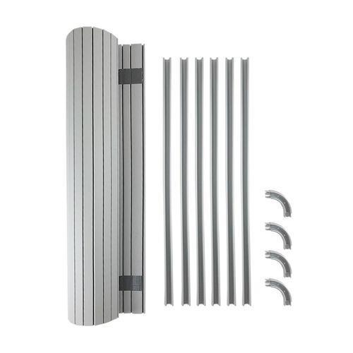 Kiravans Tambour Door Kit - Choice of Size & Colour Kiravans Painted Silver 340mm wide x 650mm drop