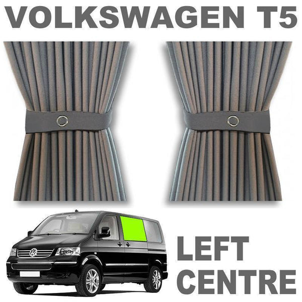 VW T5/T6 Curtain Kit - Left Centre not a Door (Grey)