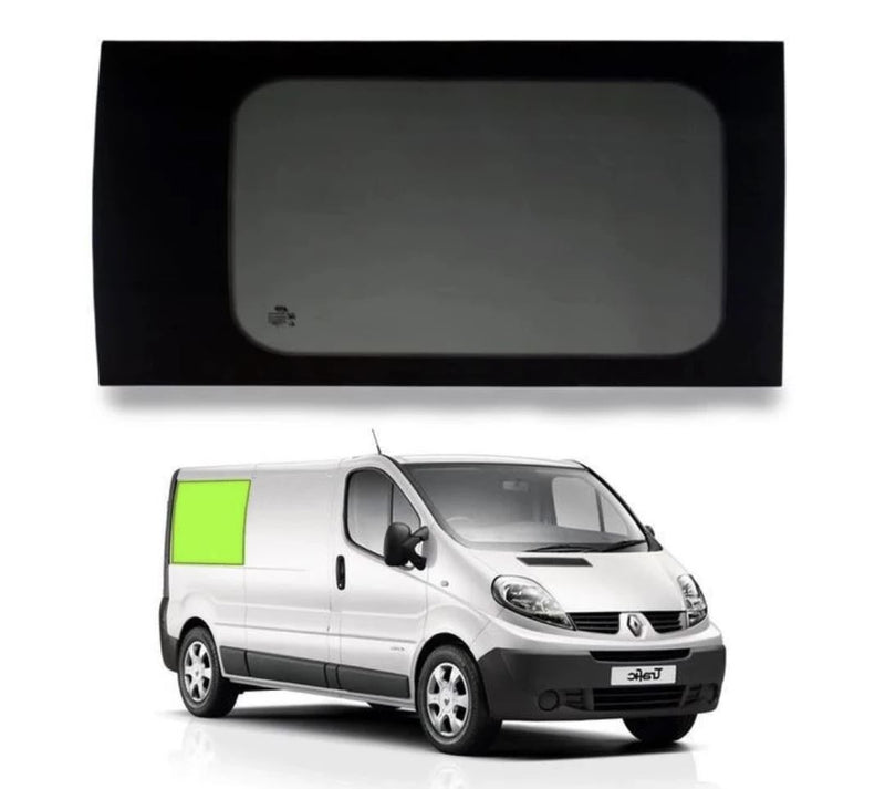 Right Rear Quarter Window (Privacy) For Trafic/Vivaro SWB - Not A Sliding Door Camper Glass by Kiravans