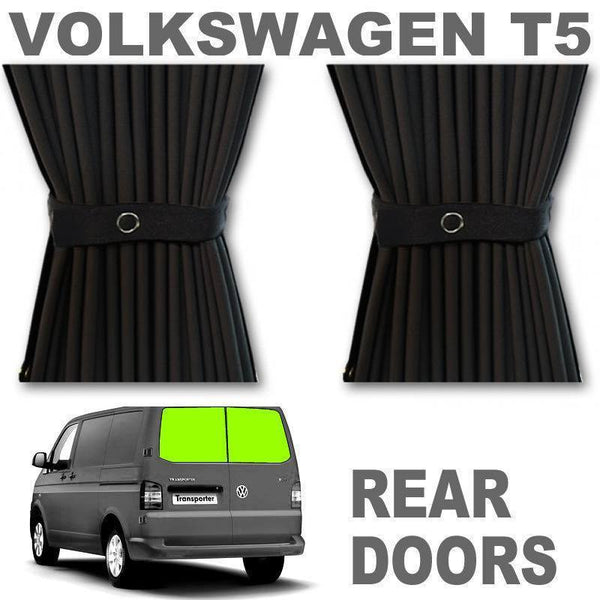 VW T5/T6 Curtain Kit - Rear Doors (Black)
