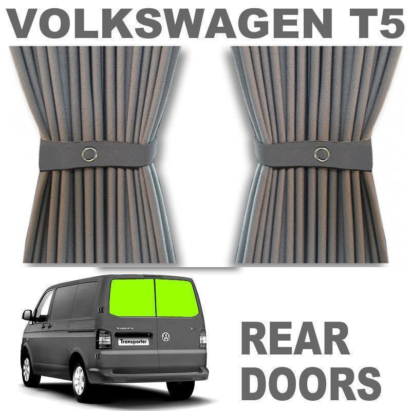 VW T5/T6 Curtain Kit - Rear Doors (Grey)