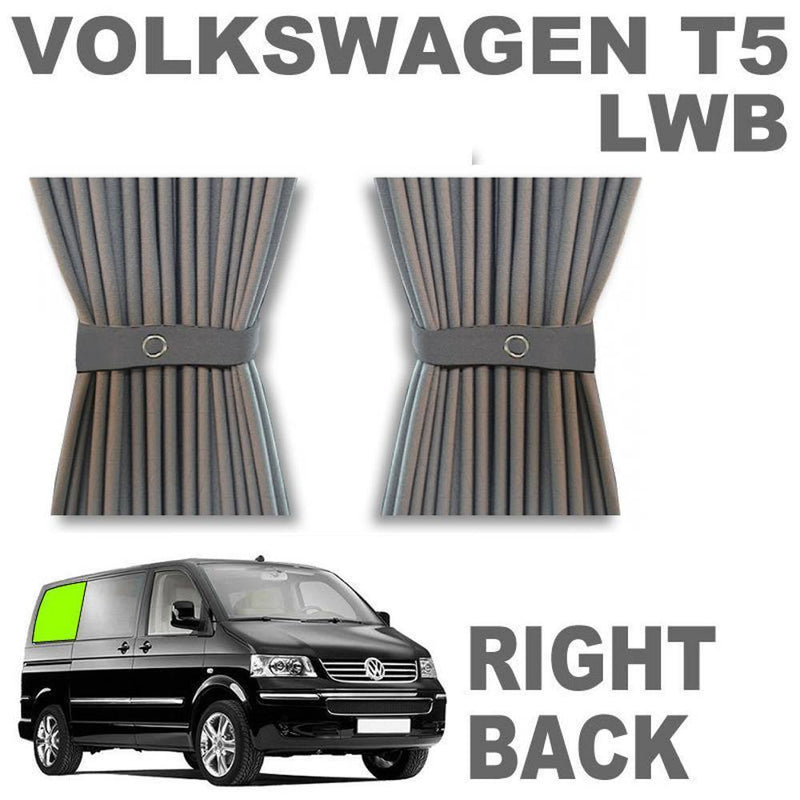 VW T5/T6 Curtain Kit - Right Back LWB (Grey)