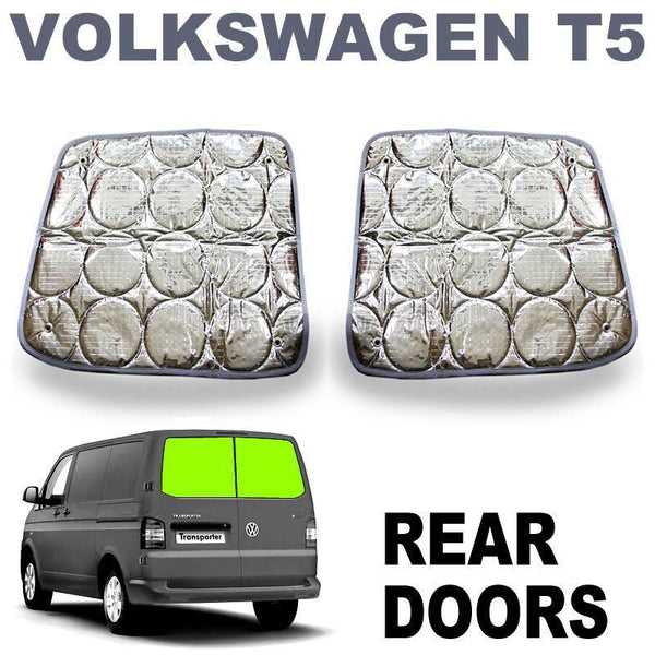 VW T5 / T6 Barn Door Silver Screens