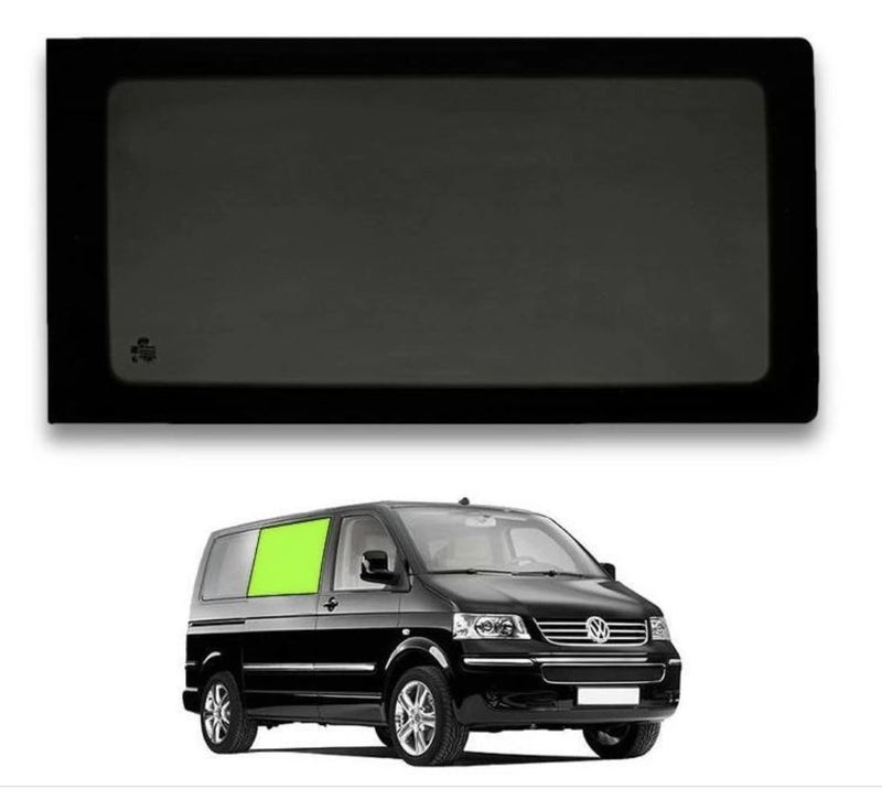 Right Fixed Window (Privacy) For VW T5 / T6 - Sliding Door Camper Glass by Kiravans