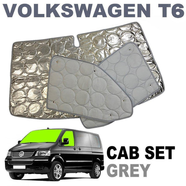 VW T6 Cab Silver Screens