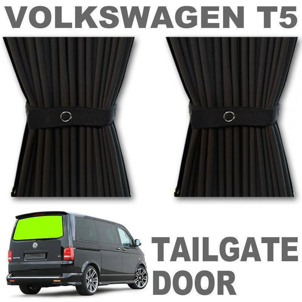 VW T5/T6 Curtain Kit - Tailgate Door (Black)