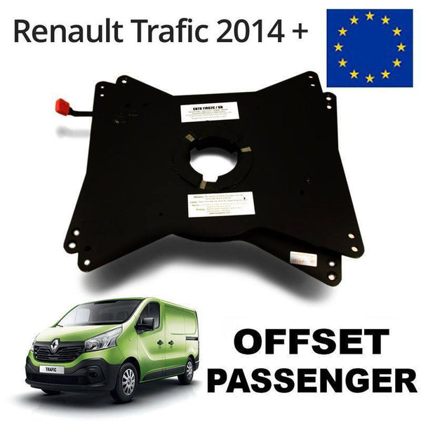 European Vivaro / Trafic X82 / NV300 (2014+) & Scudo (2016+) Passenger seat swivel (RIB) with offset LHD