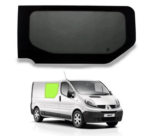 Right Fixed Window (Privacy) For Trafic/Vivaro - Sliding Door Camper Glass by Kiravans