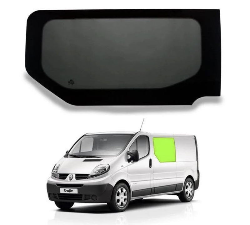 Left Fixed Window (Privacy) For Trafic/Vivaro - Sliding Door Camper Glass by Kiravans