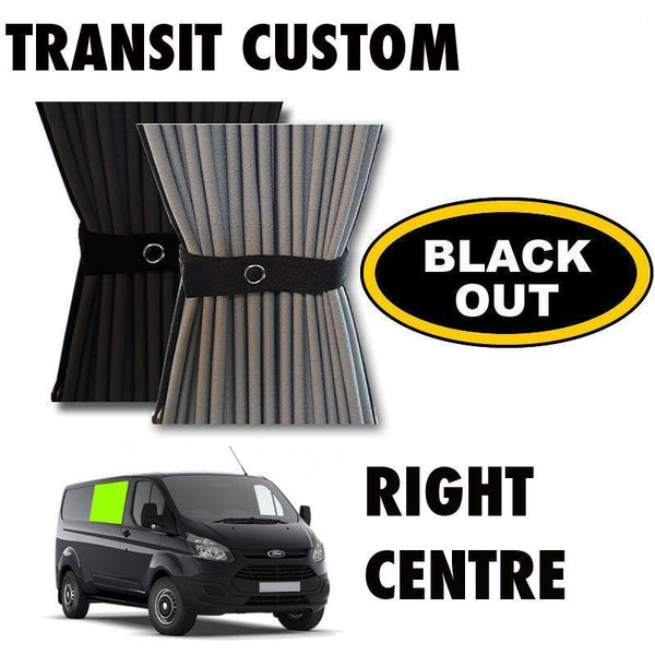 Ford Transit Custom Van Curtain Kit - Right Centre (BLACKOUT)