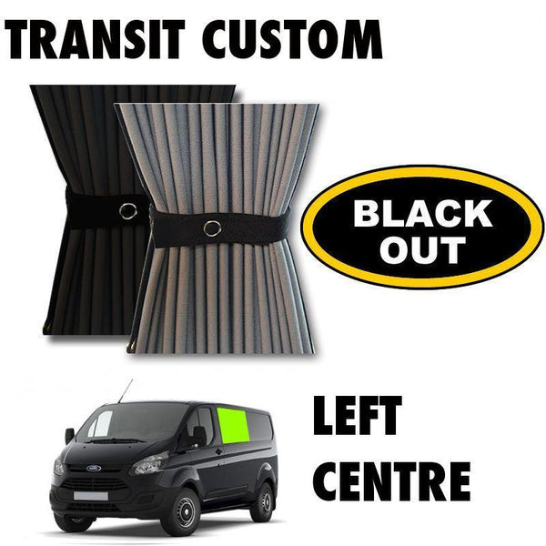 Ford Transit Custom Van Curtain Kit - Left Centre (BLACKOUT)