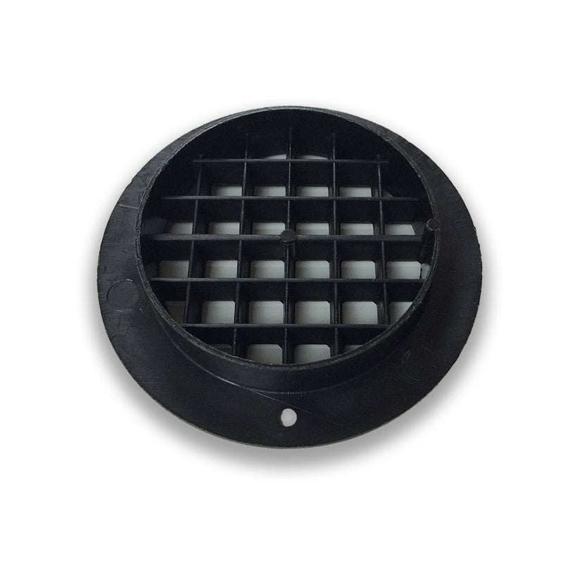 Air Vent Short Collar - 75mm Dia - DLS 7080050 (Black)