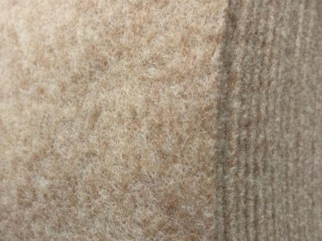 Veltrim smooth lining carpet. Wheat