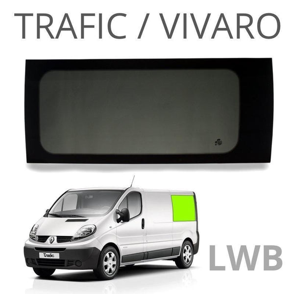 Left Rear Quarter Window (Privacy) For Trafic LWB - Not A Sliding Door