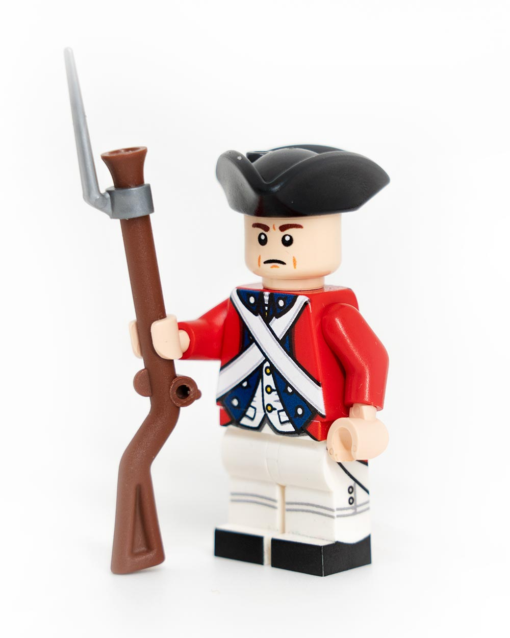 Revolutionary War British Redcoat Blue Trim Minifigure