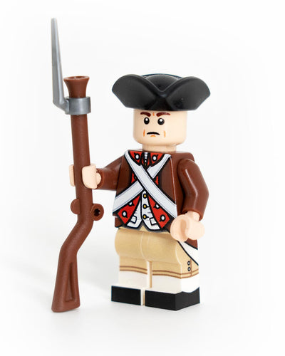 Custom LEGO Revolutionary War Continental Brown Coat Minifigure