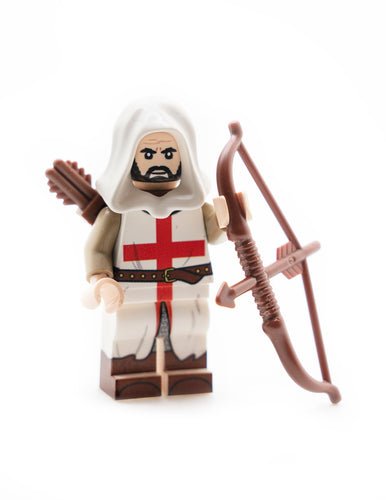 Custom Printed LEGO English Archer Minifigure with Longbow