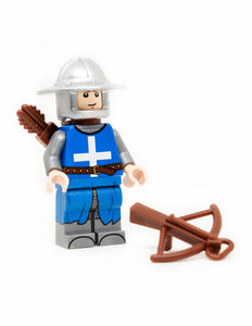 Custom Printed French Crossbowman Minifigure