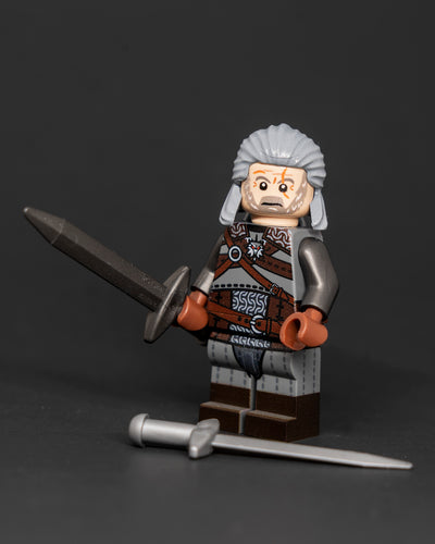 Geralt The Witcher 3 Custom LEGO Minifigure by Ktown Bricks