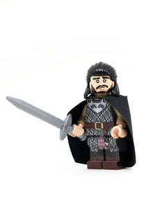 Custom Printed LEGO Jon Snow Inspired Minifigure