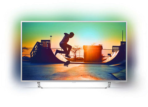 "Philips 7300 series, 65"", Android, 4K Ultra Slim TV, w/ Silver Bezel, Ambilight 3-sided, Quad Core, HDR, DVB-T/T2, 3 Year Onsite Warranty"