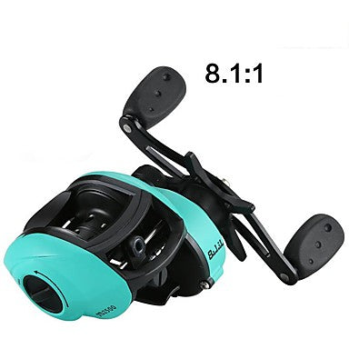 Fishing Reel Baitcasting Reel 8.1:1 Gear Ratio+13 Ball Bearings Right-handed / Left-handed Ice Fishing / Freshwater Fishing / Carp Fishing